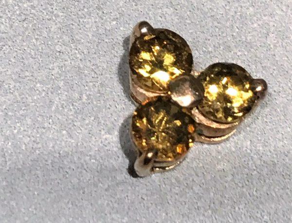 Mali Garnet 9k Gold Earrings